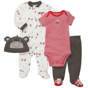 Carter's 4 PC Football Hippo Outfit Set Sports